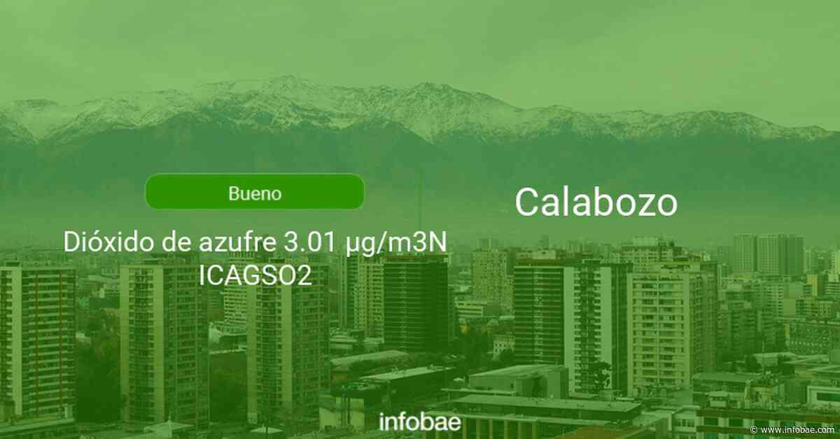 Calidad del aire en Calabozo de hoy 12 de septiembre de 2021 - Condición del aire ICAP - infobae