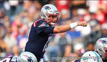 Mac Jones throws first TD pass as Patriots, Dolphins are tied 10-10 at half