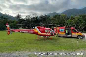 Arcanjo-03 é acionado para ocorrência de acidente de trânsito, em Rio dos Cedros - Jornal de Pomerode