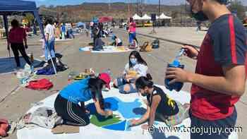 Palpitando la FNE 2021 los estudiantes realizaron la pintada - todojujuy.com