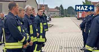 Pritzwalk: Feuerwehrleute werden im kleinen Rahmen befördert - Märkische Allgemeine Zeitung