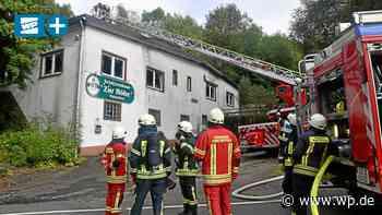 Netphen: Feuer im ehemaligen Schützenhaus in Hainchen - Westfalenpost