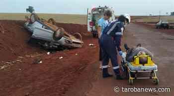 Homem fica ferido ao capotar veículo no interior de Assis Chateaubriand - Tarobá News
