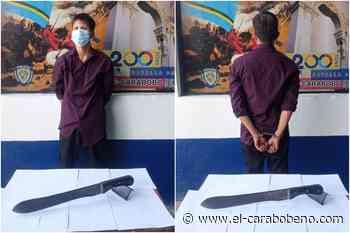 Arrestado en Naguanagua sujeto que pretendía agredir a su madre con un machete - El Carabobeño