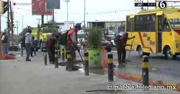 Puebla. Lluvias deja afectaciones en puente de San Felipe - Telediario Puebla