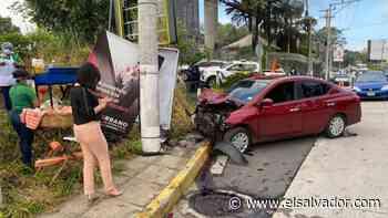 Hombre que conducía en estado de ebriedad provocó accidente en Antiguo Cuscatlán - elsalvador.com