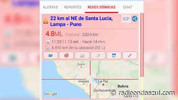 Puno: Sismo de 4.8 grados en Santa Lucía – Lampa. No se percibió - Radio Onda Azul