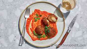 Lamb Meatballs With Pecan Romesco