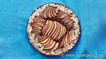 Chocolate-Almond Pear Tart