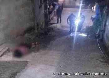 Lo matan a tiros en San Miguel - El Manana de Valles