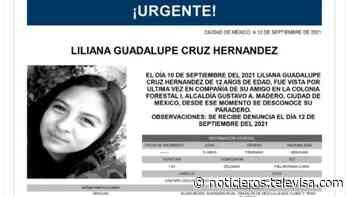 Activan Alerta Amber para localizar a Liliana Guadalupe Cruz Hernández - Noticieros Televisa