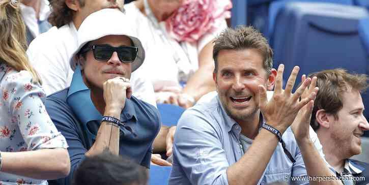 Brad Pitt and Bradley Cooper Had a Friend Date at the US Open - HarpersBAZAAR.com