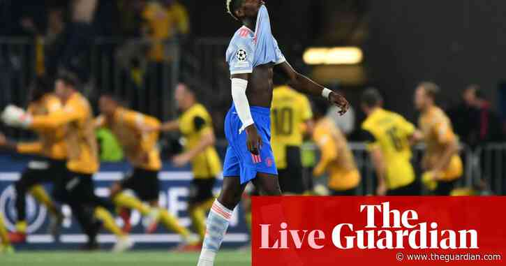 Young Boys 2-1 Manchester United: Champions League –as it happened