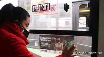 Trujillo: pegan avisos contra acoso sexual en más de 1.000 buses - La República Perú