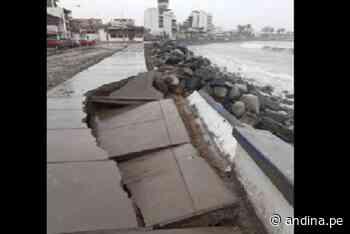 Trujillo: fuertes oleajes dañan infraestructura del malecón de Huanchaco - Agencia Andina