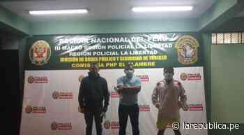 Trujillo: Policía atrapa a tres sujetos denunciados por robo - La República Perú
