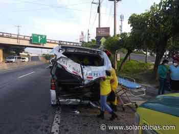 Tres lesionados tras fuerte accidente en carretera a Quezaltepeque - Solo Noticias