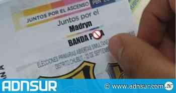 Un hincha de Deportivo Madryn votó a la fórmula Pancaldo-Michelena en las PASO - ADN Sur
