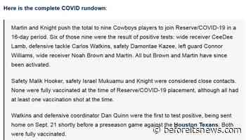 """DALLAS COWBOYS TELL THE WORLD!  """" THE VACCINES ARE NOT WORKING!""""  PROVIDE PROOF BY MEANS OF PUBLIC RECORD.."""