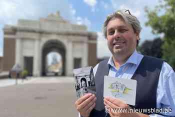 """Diederik (57) maakt postkaarten van grootste monument in thuisstad voor bekend museum: """"Toeristen van over hee - Het Nieuwsblad"""