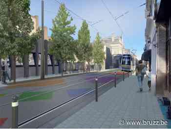 Léon Theodorstraat in Jette krijgt nieuwe tramsporen met meer plaats voor voetganger - BRUZZ