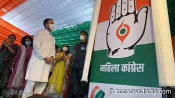 Congress leader Rahul Gandhi unveils new logo of All India Mahila Congress