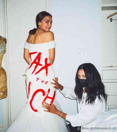"""Alexandria Ocasio-Cortez' """"Tax the Rich"""" Gown Is  a """"Designer Protest"""" Meant to Dull Class Struggle"""
