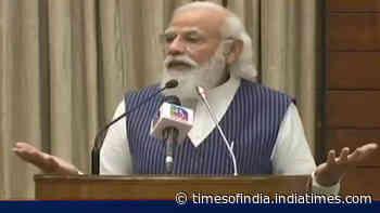Prime Minister Narendra Modi launches Sansad TV
