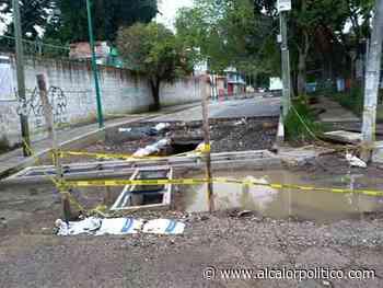 Alcaldía de Xalapa lleva 4 meses sin terminar de pavimentar calle - alcalorpolitico