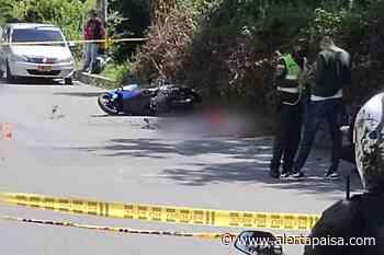 Asesinan a motociclista en la Loma de los Bernal en Medellín - Alerta Paisa