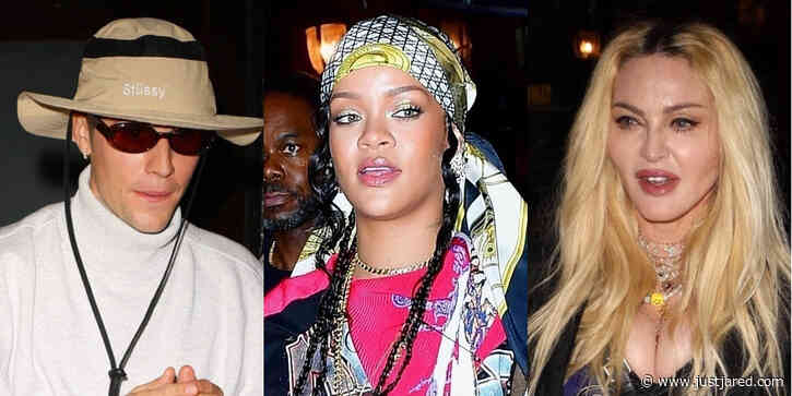 Rihanna Joins Justin Bieber, Madonna & More Scooter Braun's Star-Studded Dinner in NYC
