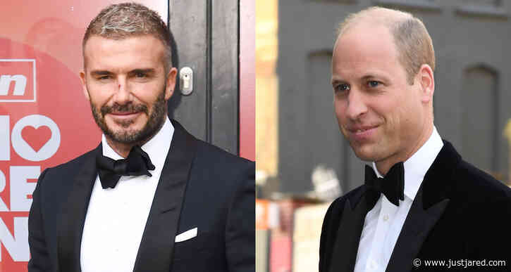 Prince William & David Beckham Both Look So Handsome Attending The Sun's Who Cares Wins Awards