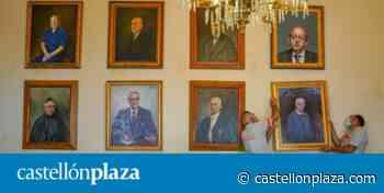 Los retratos de Germà Colón y el Padre Ricardo ya comparten sala con otros ilustres de Castelló - castellonplaza.com