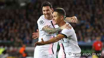 Messi starts, Mbappe hurt in PSG-Brugge draw