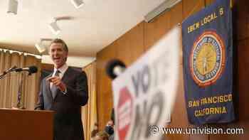 Gavin Newsom se encuentra en San Francisco con trabajadores sindicalizados y voluntarios - Univision