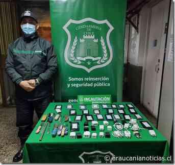 Gendarmería incauta elementos prohibidos en Centro de Detención Preventiva de Villarrica - Araucanía Noticias
