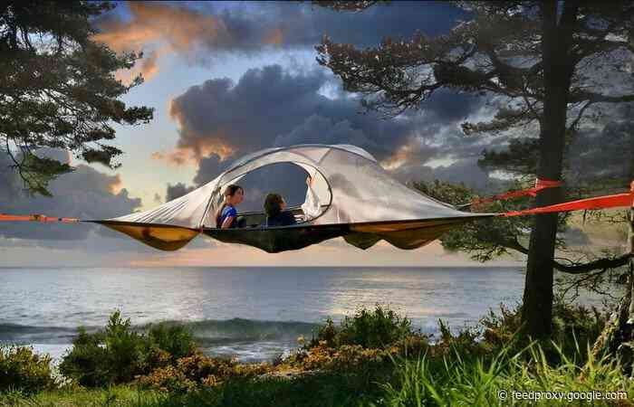 Spider Tree Tent combines the comfort of a hammock with a tent