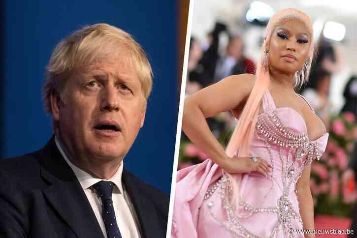 """Het zit er bovenarms op tussen Nicki Minaj en … Boris Johnson door """"belachelijke corona-mythe"""""""