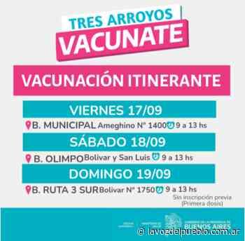 Este fin de semana: vacunación en distintos barrios de la ciudad - La Voz del Pueblo
