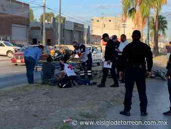 Se registra accidente vial en la colonia San Felipe de Torreón; hay una lesionada - El Siglo de Torreón