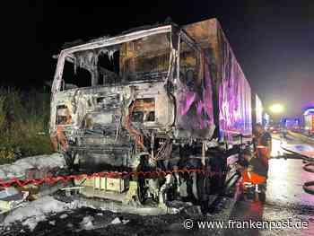 Totalsperre auf der A9 - Naila/Selbitz: Lkw fängt Feuer - Frankenpost