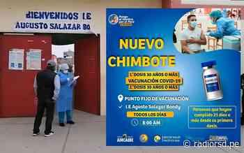 Colegio Salazar Bondy se ha establecido como punto fijo de vacunación - Radio RSD Chimbote
