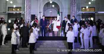 Guadalupe. Cristina Díaz da el grito de Dolores acompañada de médicos - Multimedios