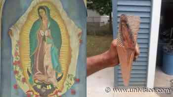 """""""Es un milagro"""": hispano talla una madera antigua y ve la figura de la Virgen - Univision"""