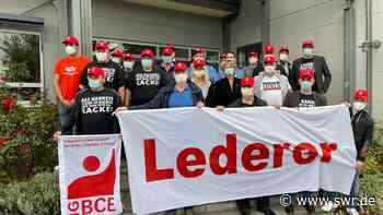 Gewerkschaft fürchtet um Lederer-Standort in Öhringen - SWR
