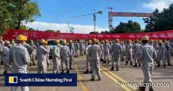 Workers at Samsung's Ningbo shipyard rally for pandemic severance pay - South China Morning Post