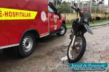 Motociclista fica ferido em acidente, na SC-110 - Jornal de Pomerode