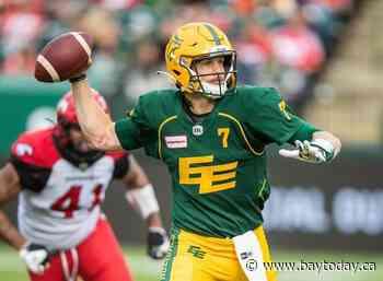 Edmonton Elks quarterback Trevor Harris placed on injured list with neck injury