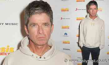 Noel Gallagher cuts a casual figure as he attendsworld premiere of Oasis Knebworth 1996