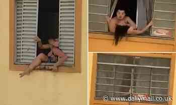 Rio de Janeiro pregnant woman tries to jump out a window as 'abusive' husband holds her back